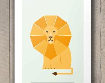 Impression Lion, Safari pépinière Animal Wall Art, Baby Shower Decor, Art pépinière Safari, Safari pépinière impression, Nursery décor, Art mural imprime
