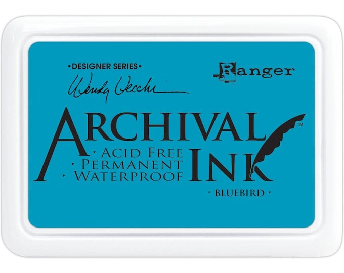 New! BLUEBIRD (Blue) Wendy Vecchi Archival Ink Pad by Ranger