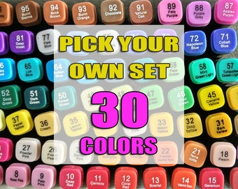 Pick by Yourself 30 Colors TOUCHTHREE Professional Art Marker Pen  Sketch Markers Cartoon Art Markers for Designers