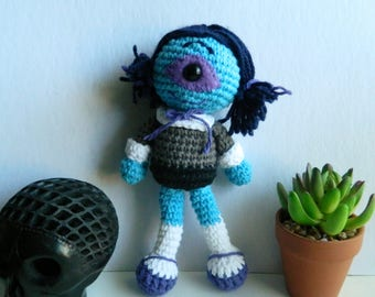 cute amigurumi cyclops monster girl