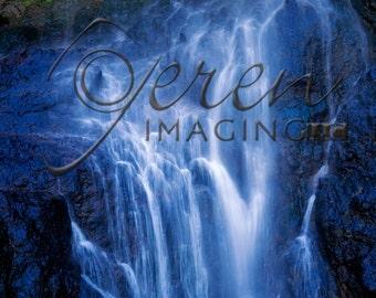 Colorado Waterfall, Waterfall Photography, Waterfall Print, Waterfall Art, Blue Wall Decor, Serene Wall Art, Landscape Photography, Nature