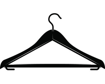 Clothes Hanger #1 Suit Wash Laundry Maid Service Housekeeper Housekeeping Cleaning Cleaners Logo .SVG .EPS .PNG Vector Cricut Cutting File
