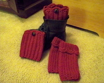 Fashion Boot Cuffs and Fingerless Gloves Set