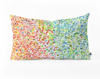 Oblong Throw Pillow - Colors