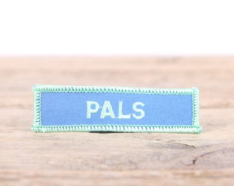 """Vintage Girl Scout Patch / 1970's-80's Scout Patch / Green Blue Pals Patch / Old Stock Scout Patch / 3"""" Girl Scouts Patch / Scout Badge"""