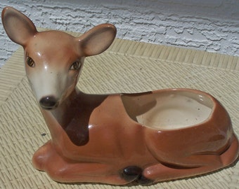 Deer Lying Down Planter With Smooth Unmarked Bottom