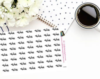 """Planner Stickers  Script Words for Planners and Journals """"Work"""" in script for your planner- journalWord Stickers Script Word Sticker PW004"""