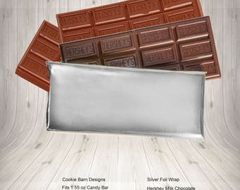 Silver Foil, Candy Bar Wrappers, Foil For Candy, Metallic Foil, Foil Candy Wrappers, Candy Bar Favors, Wedding Candy Bar, Silver Wrapper,