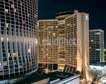 Night Photography, Street, Urban, City, Cityscape, Urban Photography, Art Print, Wall Art, Canvas Art, Living Room Art, Wall Decor