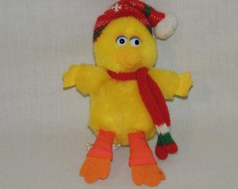 VTG Applause Big Bird Sesame Street Mini Christmas Plush / Stuffed Animal XMAS