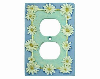 Daisy Raised Design Resin Outlet Cover