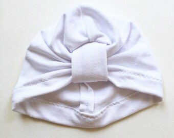 White Baby Turban hat