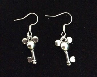 Mickey keys earrings
