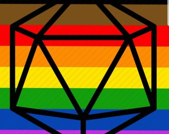 Custom Pride Themed d20 Painting