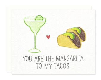 Margarita + Tacos Greeting Card