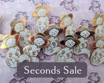 SECONDS SALE** Garden Witch - Kitty Familiar enamel pin