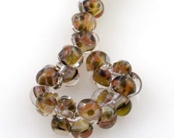 10 Mayan Chocolate Teardrop Handmade Lampwork Beads - 11mm (22210)