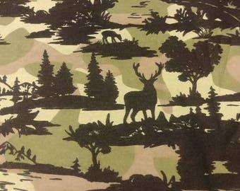 Camo wildlife deer 5 lbs weighted blanket 36 x 42