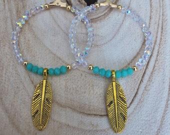 feather earrings,boho chic earrings,statement earrings,bohemian earrings,hoop earrings, ibiza earrings, hippie earrings