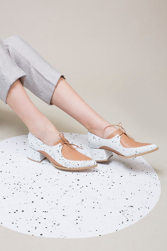 Shoes Women Handmade Shoes Shoes Shoes Blue Light Shoes Tie Oxford Shoes Leather Shoes Toe Comfortable Shoes Pointed xtv8Fqnw