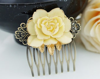 Bridal Hair Comb Wedding Hair Comb Bridesmaids Gift Vintage style Floral Hair comb Christmas Bridal Hair accessories Bridal Hair Piece