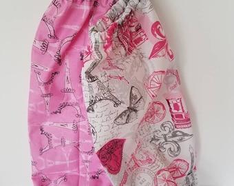Scrunch Top Plastic Bag Sock, Plastic Bag Sock, Eiffel Tower Bag Socks, SocSacs, Plastic Bag Holders, Plastic Bag Keeper, Grocery Bag Holder