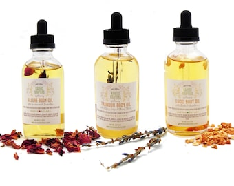 Body Oil 3-Pack, Massage Oil, Bath Oil, All Natural, Aromatherapy Oil, Pure Essential Oils
