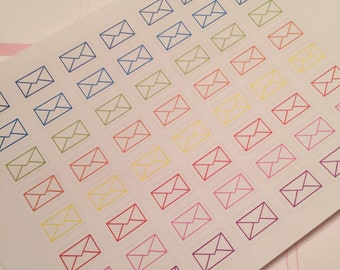 45 Envelope Mail Ship RAK Planner Stickers for Erin Condren Life Planner (ECLP) Reminder Sticker LDD1059