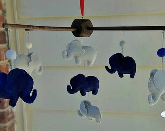 elephant baby mobile, elephant nursery decor