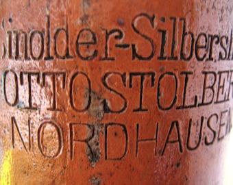Antique German Mineral Water Stone, Salt Glazed Bottle Handmade Stoneware, Antique German Stoneware, Antique Stoneware Bottle, Clay Bottle