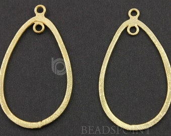 24K Gold Vermeil Over Sterling Silver, Pear Chandelier Earring Component, 24x38mm Gorgeous Jewelry Component Finding, 1 PAIR  (VM/6626/38)