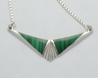 malachite necklace - green necklace