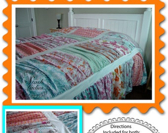 Digital Pattern:  Alexia Ruffled Quilt King, Queen, Double, Twin