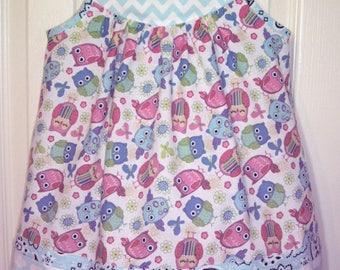 Little Girl's/Baby Girl's/Toddler Girl's Dress - Wise Owl Dress
