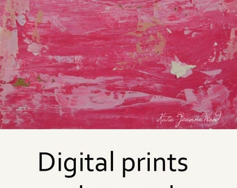 Pink Abstract Painting Print. Pink Bedroom Wall Art Print Decor. Wall Art Print. Gift for Her. 69
