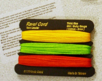Ravel cord Yarn Leader all Mid/Bulky machine Knitting