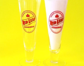 Great Lakes Brewery Red Leaf Lager Maple Leaf Etobicoke Ontario Canadian Craft Beer Stein Mug Glasses - Set of Two