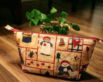 Happy Grandma Retreat Project Bag; crochet, yarn bag, quilt bag, zipper bag, gift for knitter, sock knitting bag