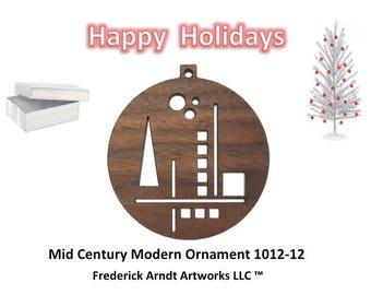 1012-12 Mid Century Modern Christmas Ornament