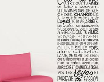 """Sticker wall text """"it's your life... Your Passion"""""""