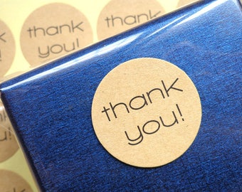 THANK YOU round sticker 120 pcs 240 pcs, hand made stickers, packaging sticker, handmade with love, kraft sticker, gift tag, thank you decal