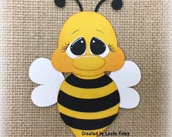 Spring Bee Premade Scrapbooking Embellishment Paper Piecing