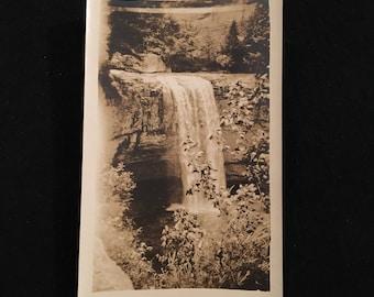 Lula Falls - 1920s Snapshot Photo, Vintage Snapshot, Beautiful Amateur Photograph