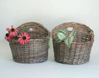 Woven Willow Creel Basket
