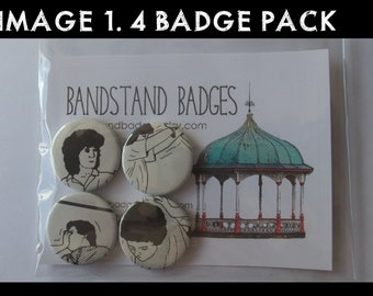 4 Badge Set - Self Defence - Set of Four 25 mm/1-inch Button Badges