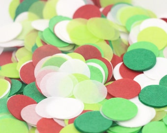 Christmas Confetti, christmas cards, red and green circle confetti, christmas wedding, table scatter, confetti balloon, gift confetti, party