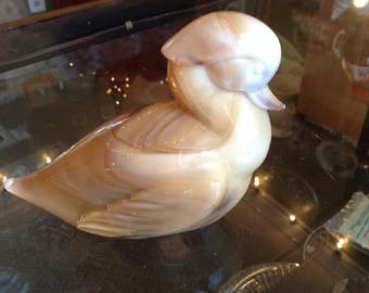 White Ceramic Duck Figurine