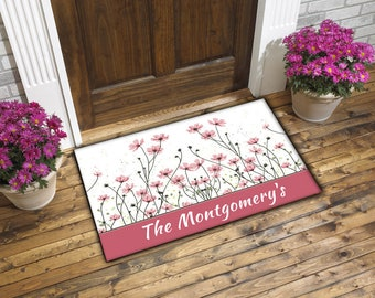 Personalized welcome mat for indoor or outdoor use