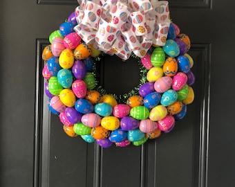 Easter Wreath, Easter Egg Wreath, Egg Wreath, Easter Décor