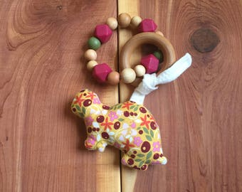 Little Critter Toy/Turtle, Organic Teether, Silicone Teether, Baby Teether, Teething Toy, Bay Shower Gift